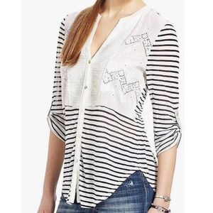 Tiny (Anthropologie) • Sequin Striped Henley